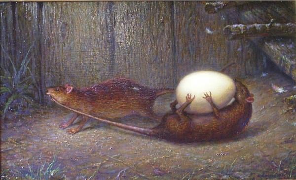Голодная крыса не прочь полакомиться и яйцами