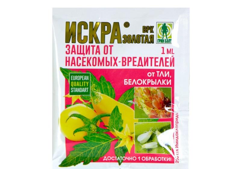 Искра - универсальное средство против капустных вредителей