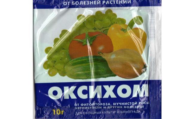 Препарат оксихом для обработки растений